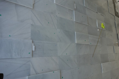 """Blanco Macael Marble Stone Tile - 4,400sf, mostly 24""""x48"""""""
